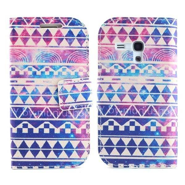 Kleurrijke aztec bookcase voor Samsung Galaxy S3 mini