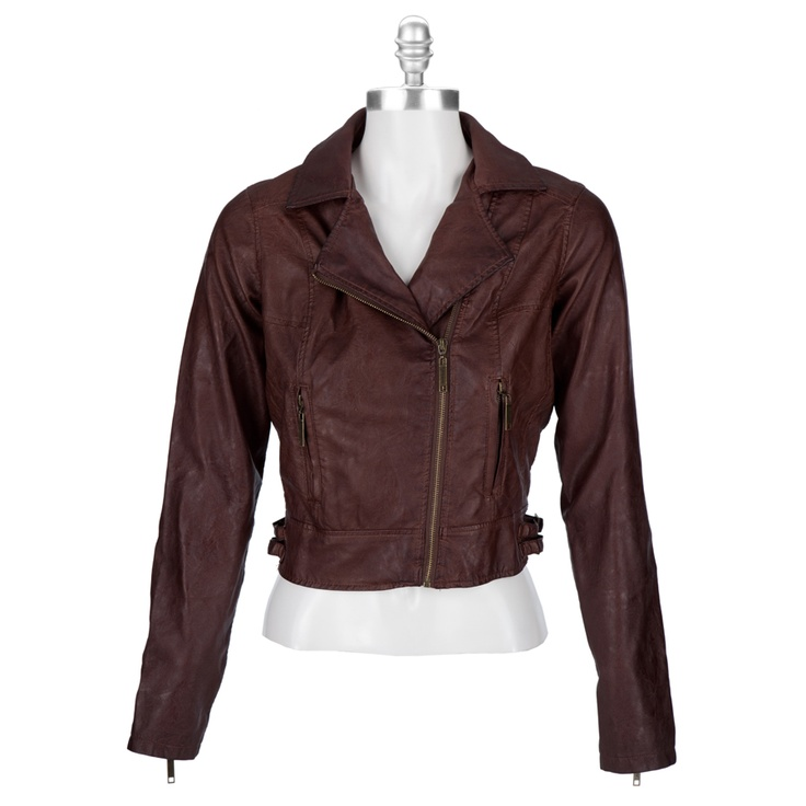 Black leather jacket for juniors