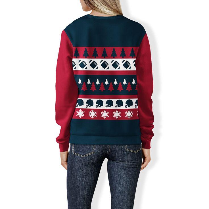 Houston Football Ugly Christmas Sweatshirt