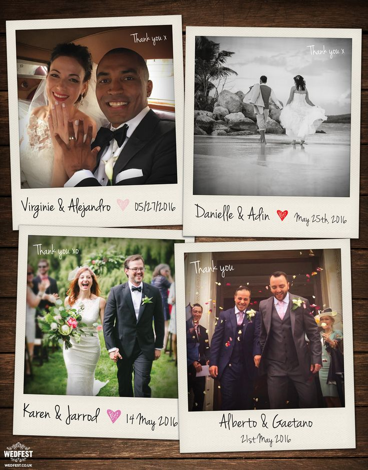 free online printable wedding thank you cards%0A polaroid photograph wedding thank you cards http   www wedfest co