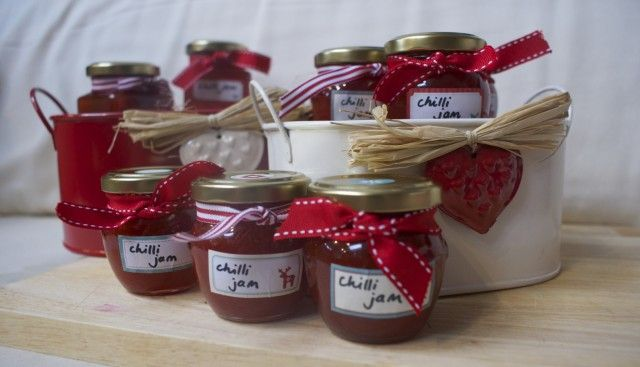 home made chilli jam - easy to make and a stunning gift