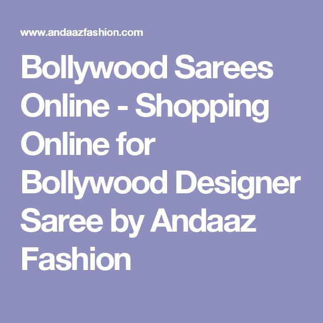 Bollywood Sarees Online - Shopping Online for Bollywood Designer Saree by Andaaz Fashion