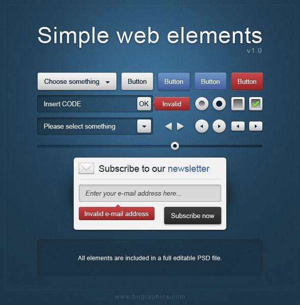 Simple web elements