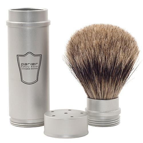 Parker Shaving Travel Pure Badger Brush