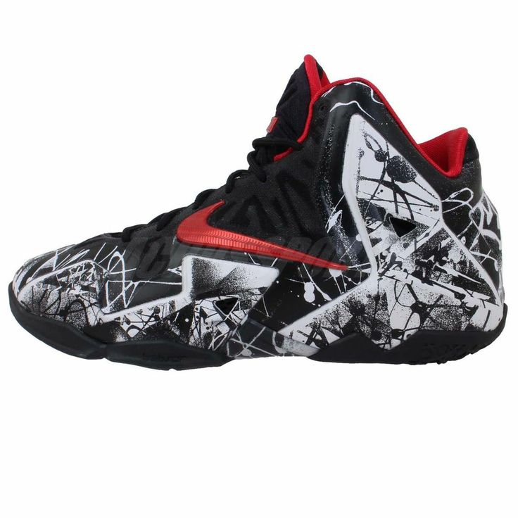 Nike Lebron XI GS 11 Graffiti White Black Boys Kids Youth James Basketball  Shoes