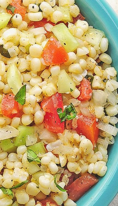 Fresh Corn Salad This looks refreshing!