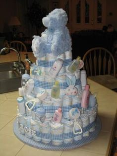 baby boy diaper cakes | Personalized Baby Boy Cake
