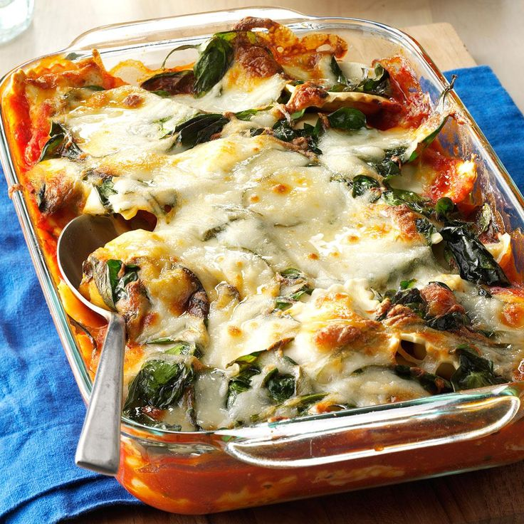 Weeknight Ravioli Lasagna Recipe -My husband and I love lasagna, but it's time-consuming to build and we always end up with too much. Using frozen ravioli solves everything. —Pamela Nicholson, Festus, Missouri