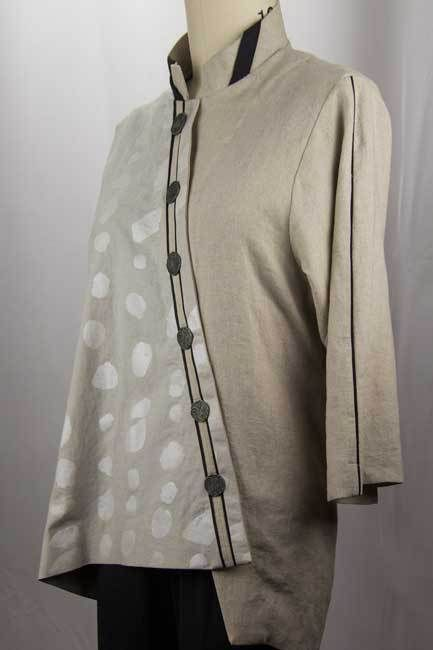 "Fall Linen by West Zen Studio, ""I just finished this linen shirt this past weekend. Obviously, I don't care about the rules of textile seasons, because I plan on wearing this shirt as a transitional weight until the cold sets in."""
