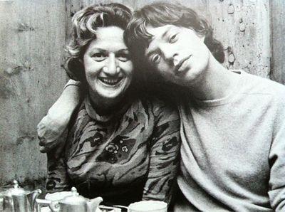 MICK JAGGER AND HIS MOM via-Tumblr