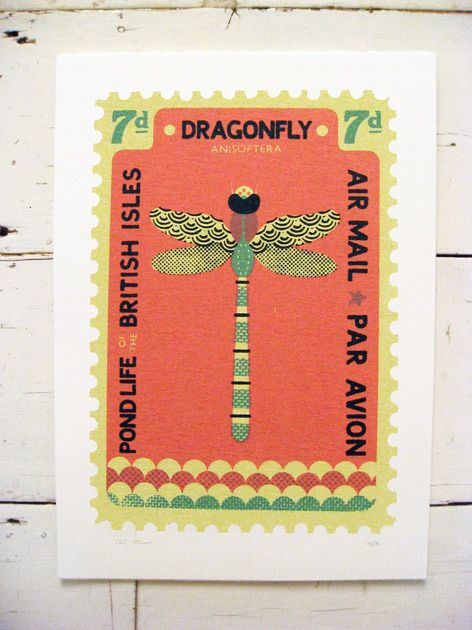 Image of Large Dragonfly Stamp by Tom Frost