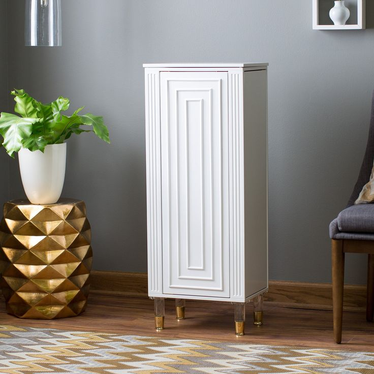 Belham Living Modern Regency Jewelry Armoire - You have a large jewelry collection, so have some storage that can keep up. The Belham Living Modern Regency Jewelry Armoire offers more-than-plentiful...