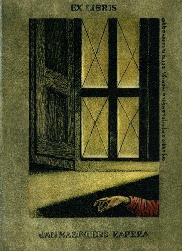 Omaggio a Michelangelo Merisi,  detto il Caravaggio (Ex libris Jan  Kazimierz Kapera by Luigi Casalino)