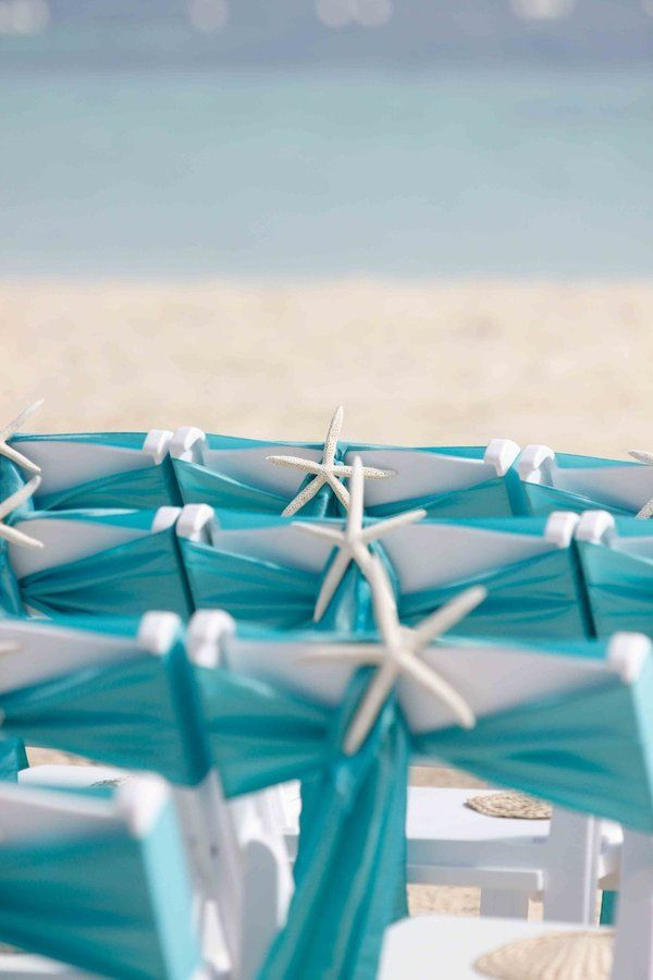 Beach wedding chair details