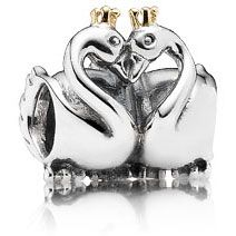 Swan Embrace - Swan couples are known for staying together their entire lives, making this elegant two-toned charm a beautiful gift to show love and partnership. It is a perfect symbol of love, union, purity, balance, beauty and dreams.