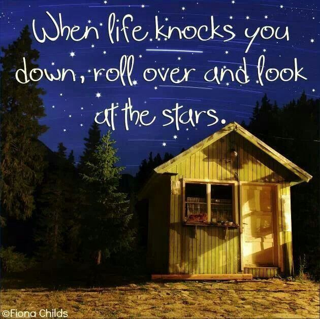 When life knocks you down, look up :) | attitude/quotes ...