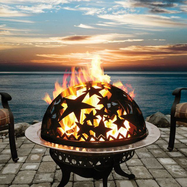 Starry Night fire pit fire dome. Perfect for summer fires!