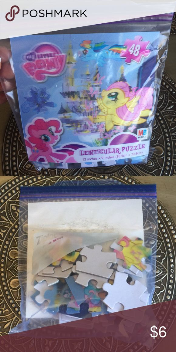 🍭 My Little Pony Puzzle MLP Lenticular Puzzle - 48 piece My Little Pony Accessories