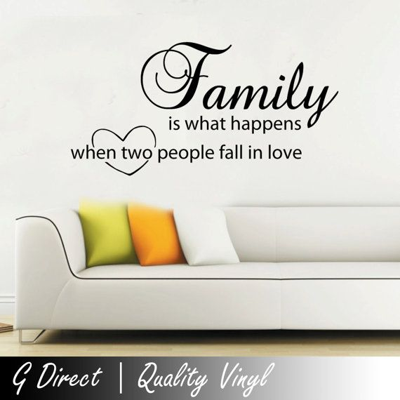 Family is what happens love wall sticker quote Bedroom Home Art Vinyl Decal 2 100x55 CK