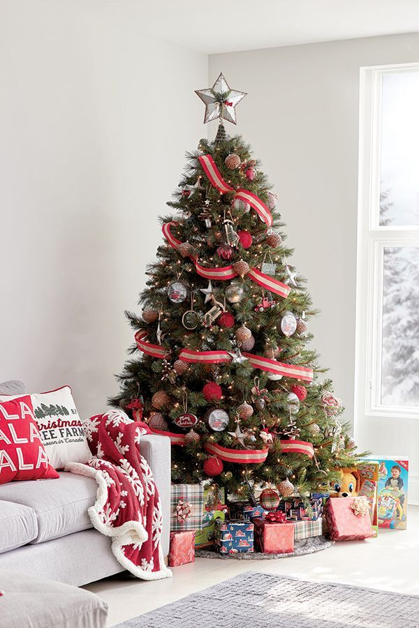 Stock Your Tree Like You Mean It Get Those Presents Checked Off With Walmart And Live Christmas Tree Decorations Christmas Home Outdoor Christmas Decorations