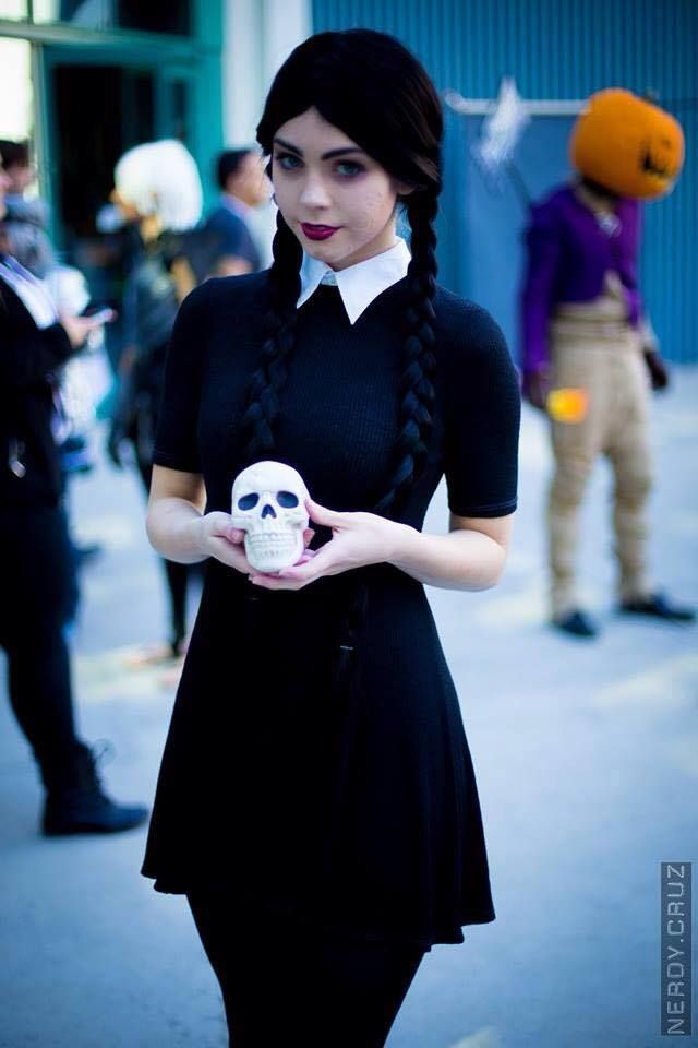 Character: Wednesday Addams / From: 'The Addams Family' / Cosplayer: LifeofShel / Photo: Nerdy Cruz / Event: Comikaze (2015)