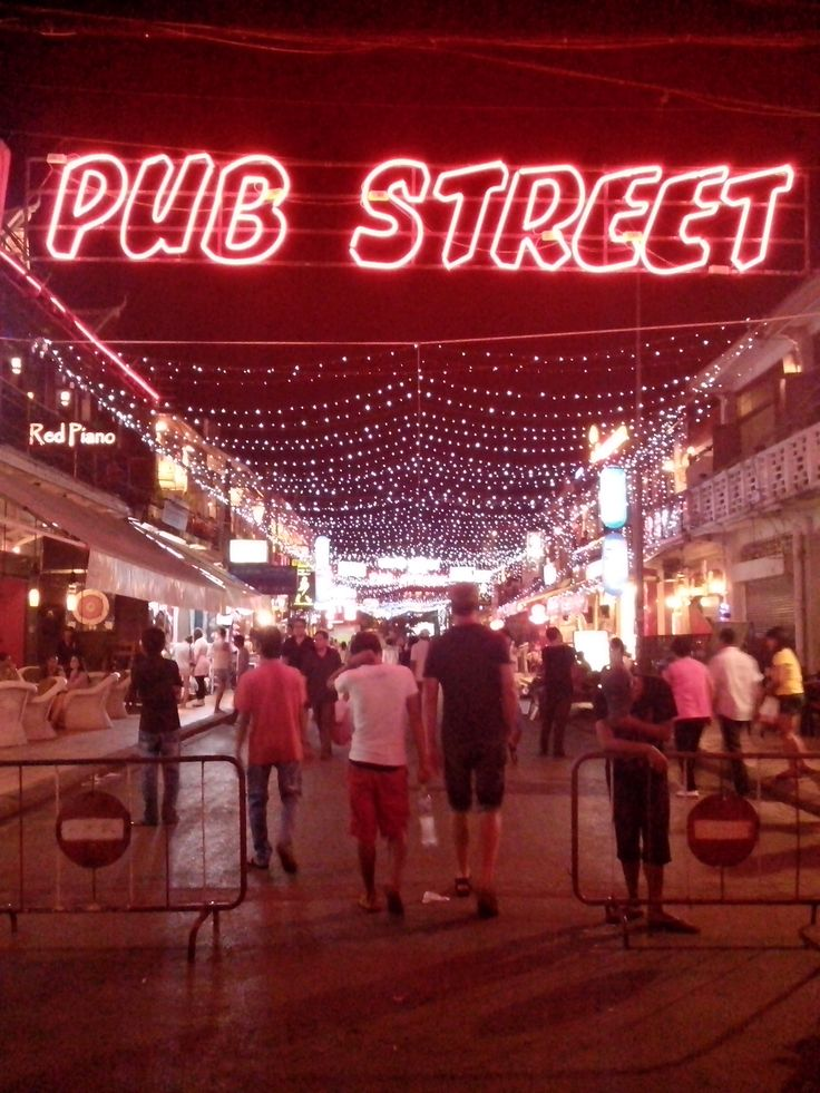Yes Exactly along this street it's pub #siamriep