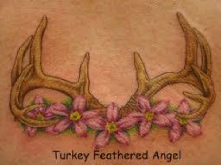 Antlers and flowersAntlers Flower Tattoo, Tatt Ideas, 720540, Camo Tattoo Ideas, Hibiscus Flower, Flower Tattoos, Tattoos Piercing, Antlers Tattoo, Yay Tattoo