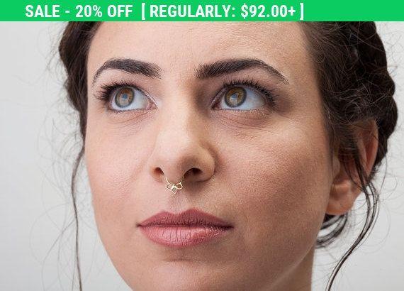 20 % de réduction Anneau de Septum or anneau de par StudioMeme