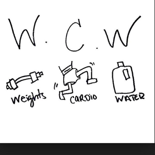 WCW- weights cardio water!! #weilos