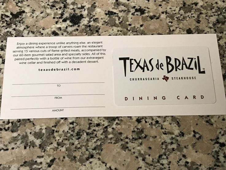 #Coupons #GiftCards $50 Texas de Brazil Steakhouse Restaurant Gift Card - Free Shipping #Coupons #GiftCards
