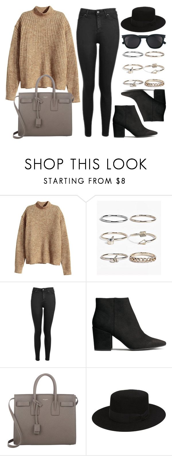 """Style #11328"" by vany-alvarado ❤ liked on Polyvore featuring H&M, Boohoo, Topshop and Yves Saint Laurent"