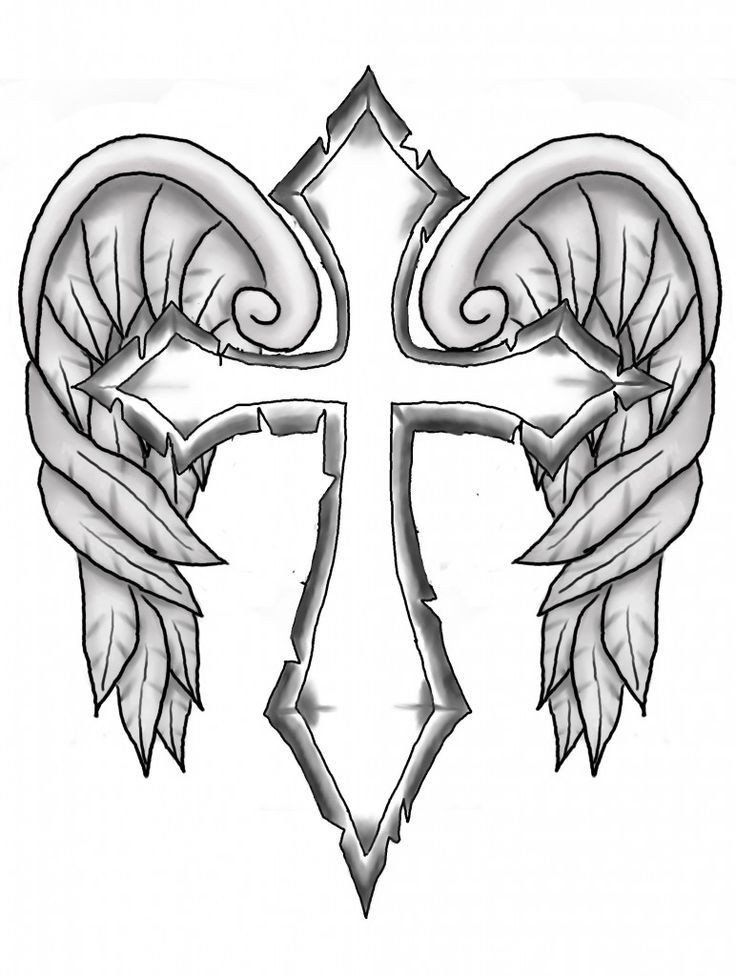 Angel Wings Coloring Page Free Heart With Wings Coloring Page Download Free Clip Art In 2020 Cross Coloring Page Skull Coloring Pages Cross Drawing