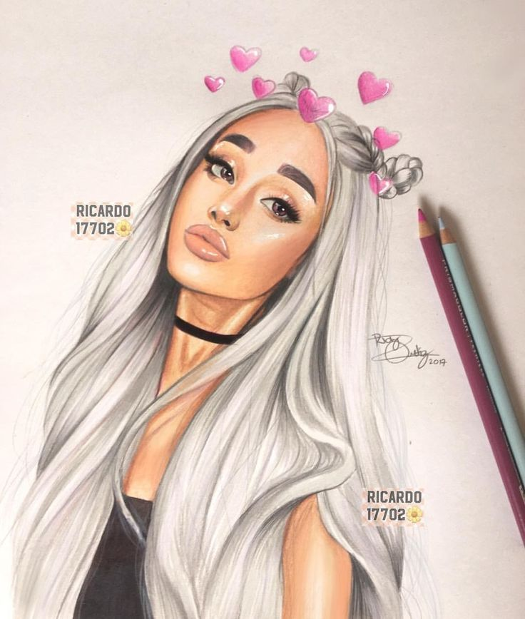 how to draw ariana grande easy