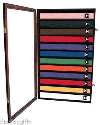 Karate/Taekwondo Belt Display Case Shadow Box Wall Hanging Cabinet