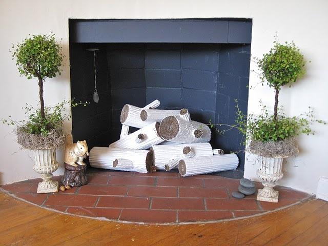 Diy Faux Fireplace Logs Diy Faux Fireplace Pinterest