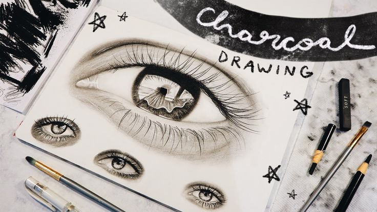 Drawing Eyes With Charcoal. #drawing #charcoaldrawing # ...