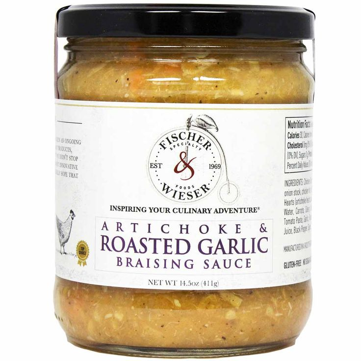 Artichoke & Roasted Garlic Braising Sauce by Fischer & Wieser 14.5 oz