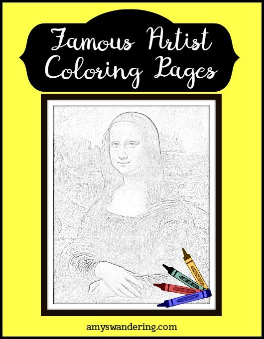 FREE Famous Artist Coloring Pages