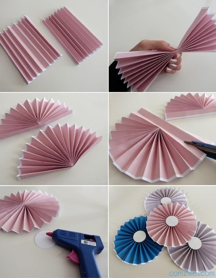 DIY: Das Tutorial zu den Papierrosetten – einfaches Niveau