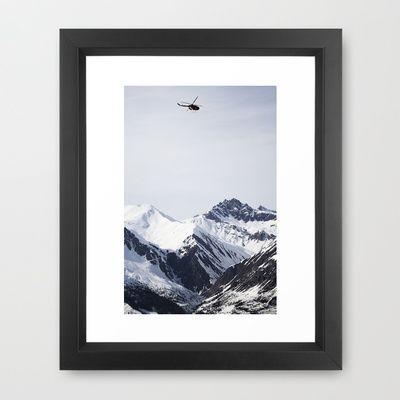 RedBull Helicopter session Framed Art Print by Håkon Jørgensen - $32.00