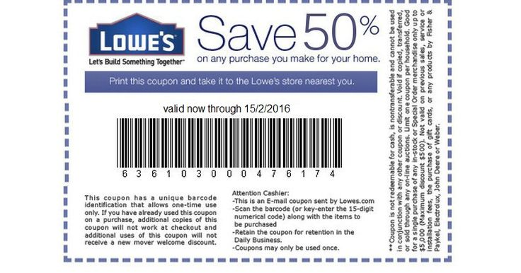 50% off at All Lowe's Stores - Exclusive Coupon