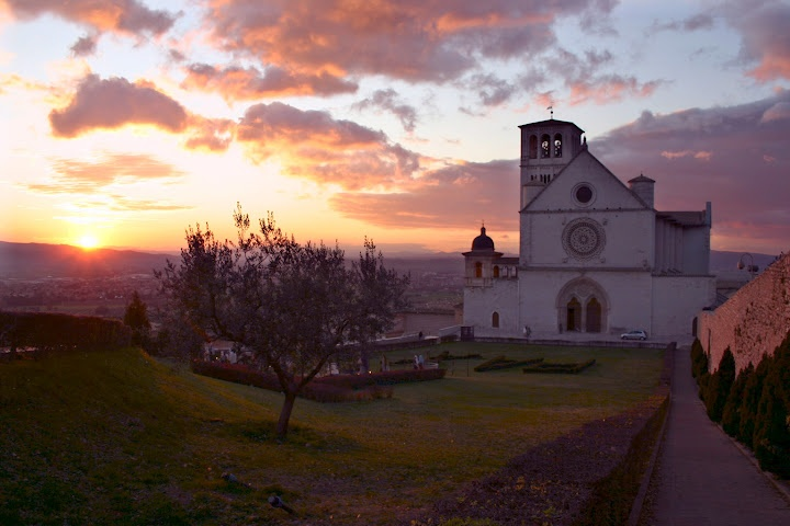 Sunset over Assisi, Italy © Marsha K. Russell