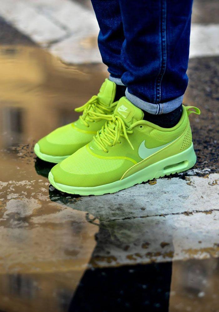 newest a06e1 d87e4 Nike Air Max Thea Green Neon