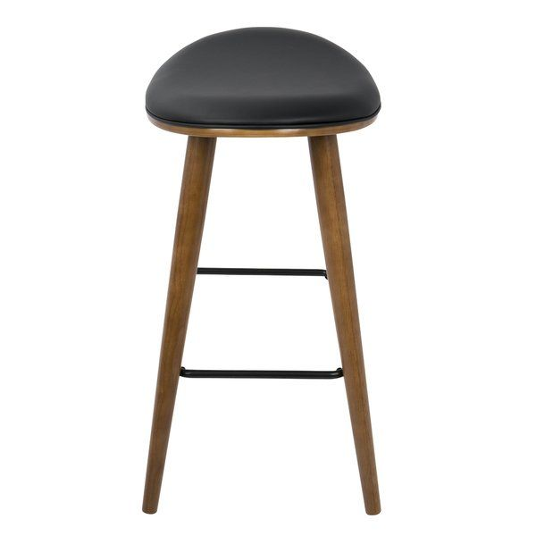 Kylie Saddle Fixed Base Counter 25 Bar Stool Modern Counter