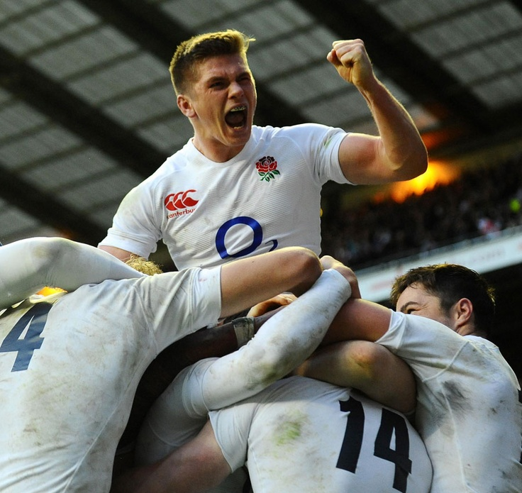 Ecstatic Owen Farrell is ecstatic, as he should be, after England scored two tries against the All Blacks in five minutes.