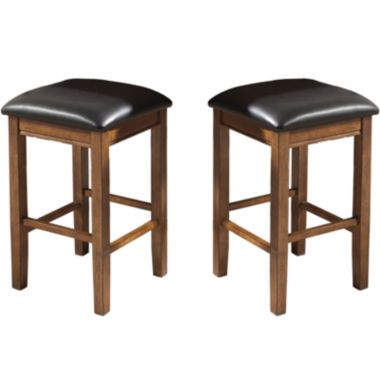 ... Set of 2 Counter-Height Backless Barstools found at @JCPenney