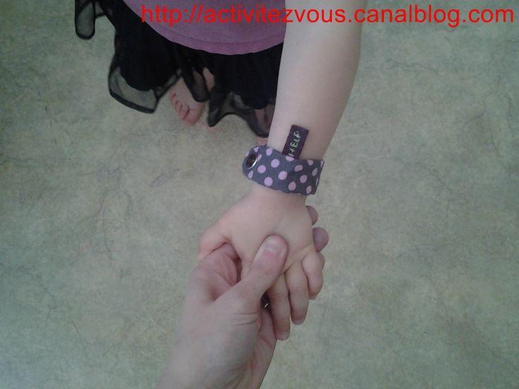 Securit�/couture: Bracelet d'identification pour enfant fait maison TUTO
