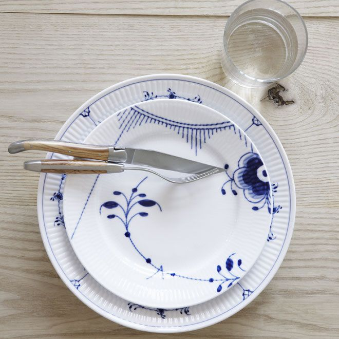 Blue Fluted Plain & Blue Fluted Mega Table Setting in the 2012 Royal Copenhagen Catalogue