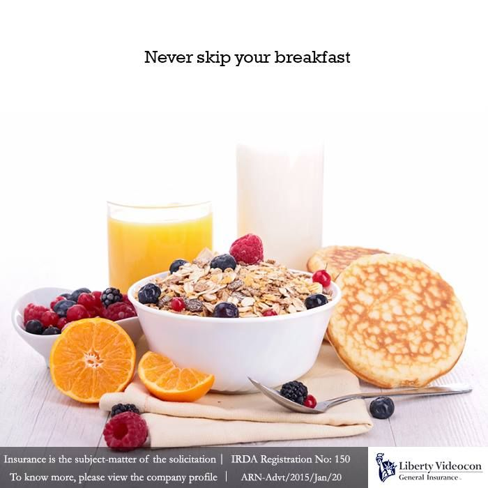 You end up eating more throughout the day if you don't have a heavy breakfast. So start your day with a nutritious & heavy breakfast #NoExcuses