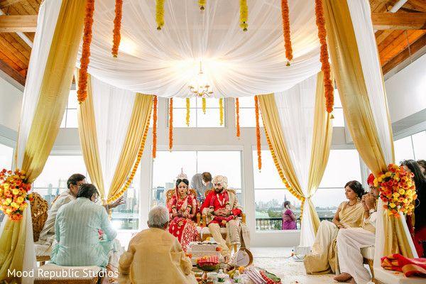 Fascinating indoors wedding ceremony.